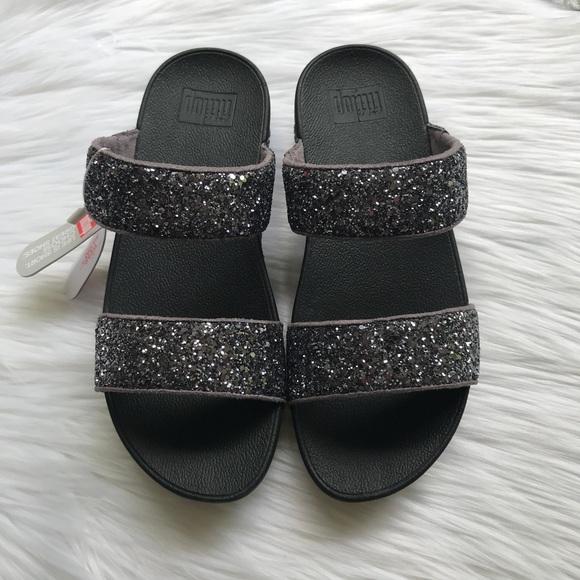 8aedb505eb9 Fitflop Glitterball Slide Nubuck Slide Sandals